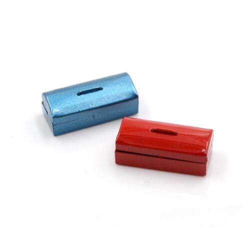 Red//Blue 1:12 Dollhouse Miniature Mini Metal Tool Box MD