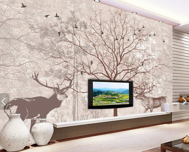 3D Baum Tierkunst 693 Tapete Tapeten Mauer Foto Familie Tapete Wandgemälde DE