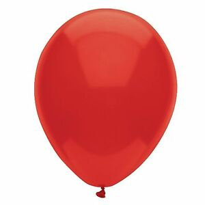 Red-Metallic-10-034-Latex-Balloons-Birthday-Wedding-Any-Occasion-UK
