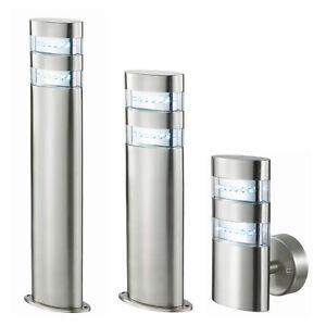 led au enleuchte bari edelstahl wandleuchte standlampe wand lampe standleuchte ebay. Black Bedroom Furniture Sets. Home Design Ideas