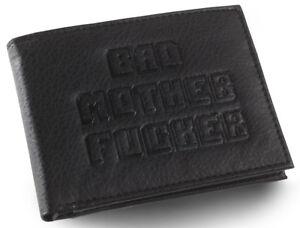 Schwarz-gepraegter-BMF-Bad-MOTHER-FU-er-Leder-Wallet-wie-in-Pulp-Fiction