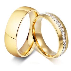 2-Verlobungsringe-Partnerringe-Trauringe-Freundschaftsringe-Zirkonia-Edelstahl