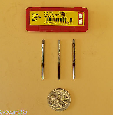 """Sutton Tools Straight Flute Tap BSW HSS Taper Inter Bottoming 1//8/"""" to 1/"""" Steel"""