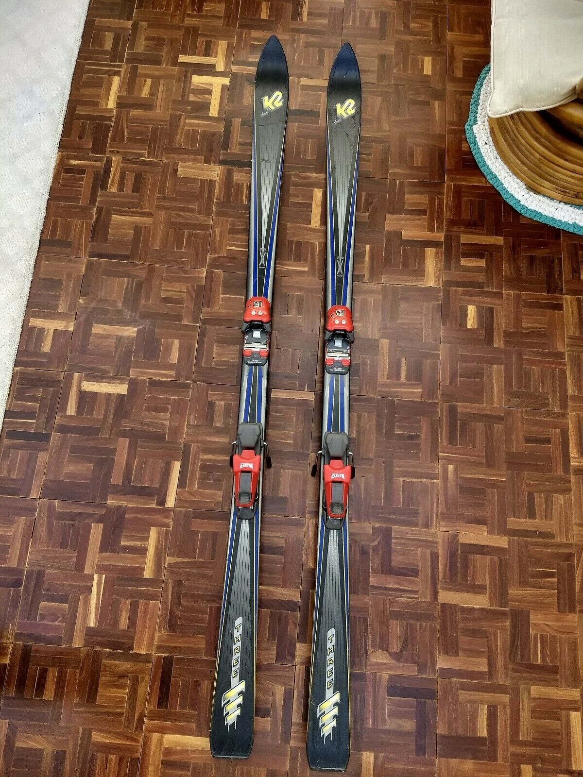 K2  THREE  Downhill Skis 178cm With Marker M29V Bindings