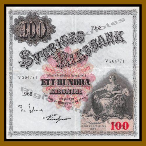 Sweden 100 Kronor 1959-1963 P-48 Cir