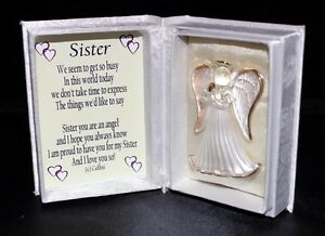 Sister Bridesmaid Gift Guardian Angel Poem Box Wedding Favour
