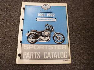 1991 1992 Harley Davidson Xlh 883 1200 Sportster Motorcycle Parts Catalog Manual Ebay