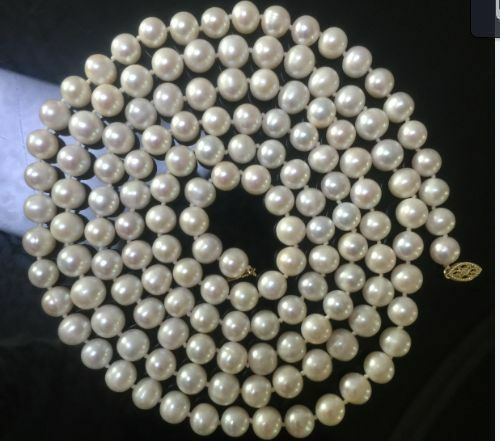 Classic AAA 9-10 mm South Sea blanc collier de perles 50 in environ 127.00 cm