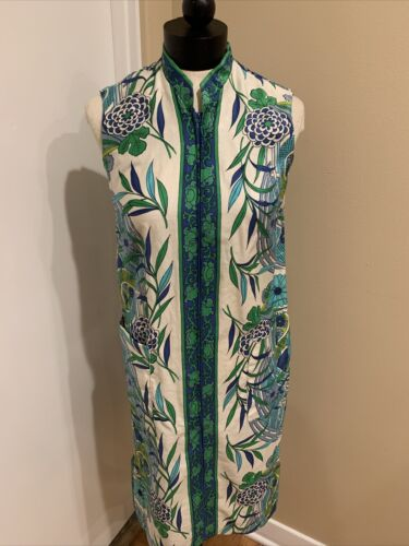 Vintage Loungees Asian Inspired Blue And Green Dre