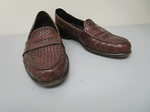 Bragano-by-Cole-Haan-Made-in-Italy-Brown-Woven-Leather-Loafer-Size-9-M