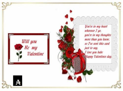 Designs au Hasard choisi Valentine carte Inserts