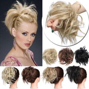 100-Natural-Curly-Messy-Bun-Hair-Piece-Scrunchie-Hair-Extensions-as-Human-Grey