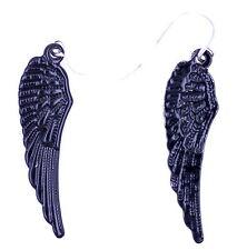 COOL Punk Goth stile nero ali d'angelo/Ali orecchini