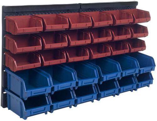 NEW 30 Storage Compartment Wall Mount Organizer Bins Hardware Nails Screws Beads