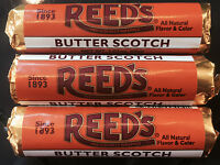 Reed's Butterscotch Is Back 3pk Classic Hard Candy Rolls Free Shipping