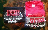 Sixteen Skateboards Danzig Logo Skateboard T Shirt