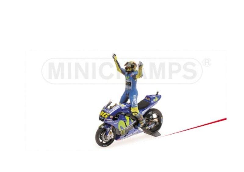 Minichamps 122 173146 Yamaha YZR-M1 Vélo Figure Rossi Win ASSEN  MOTOGP 2017 1 12  livraison rapide
