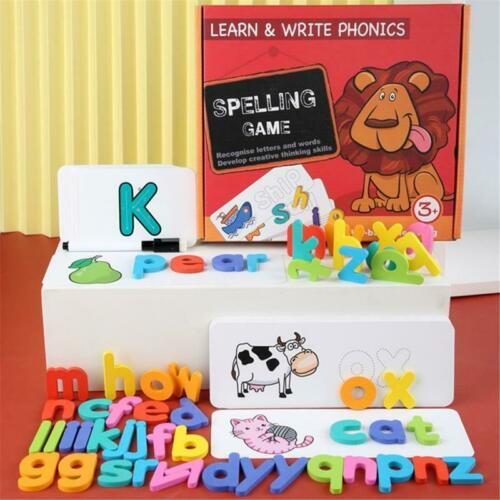 Matching Letter Game Letter Spelling and Reading Memory Game for Preschools