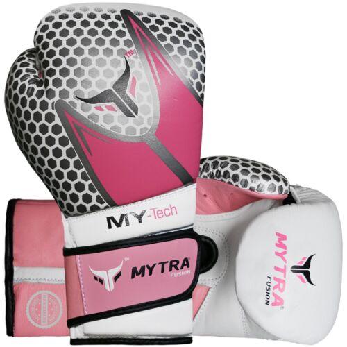 Mytra Fusion MY-tech vera pelle Pugilato Boxe MMA Sparring Guanti di formazione