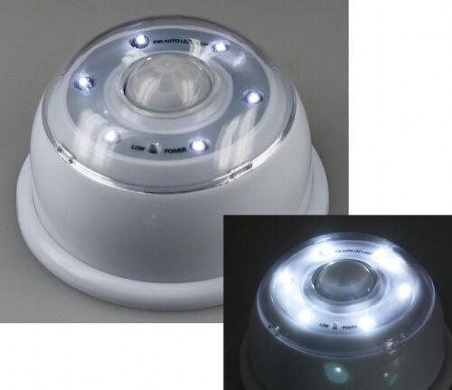 LED Wandleuchte mit Bewegungsmelder 6x LEDs Magnet halter weiß beleuchtung licht