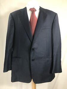 Hickey-Freeman-Men-Two-Button-Dark-Blue-100-Wool-Coat-Blazer-Size-43-R