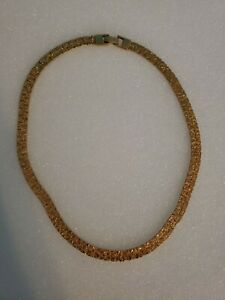 Gold-Tone-Mesh-Collet-Necklace