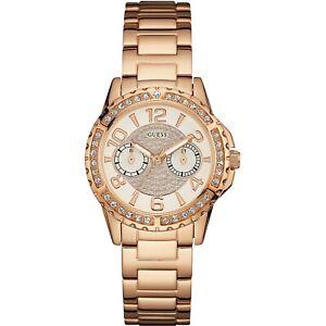 De Guess Sassy Chapado Oro Detalles En Reloj Mujerw0705l3 Rosa OkXiuPZ