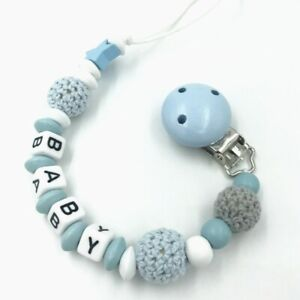 Personalised Baby Dummy Clips