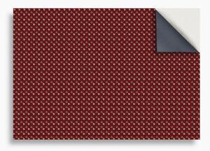 SELF ADHESIVE DOLLS HOUSE WALLPAPER 1/12th VINYL SHEET Fleur on Deep Red - 3