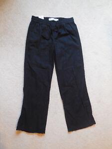 4a5931d4710 NWT Women s SONOMA Goods for Life Midrise Linen Pants Size 6 Black ...