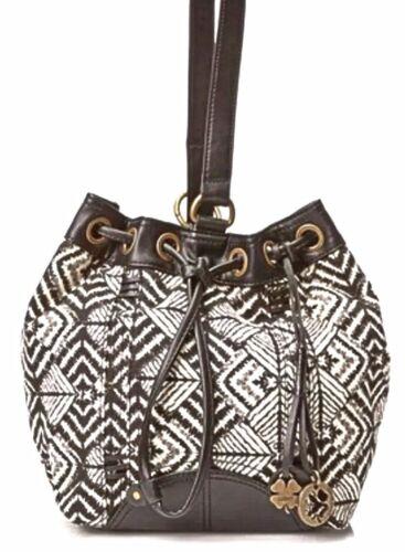 geometrisch schouder Hai Brand draagzak Bali Nwt patroon Lucky zwart handtas SGqVzMUp