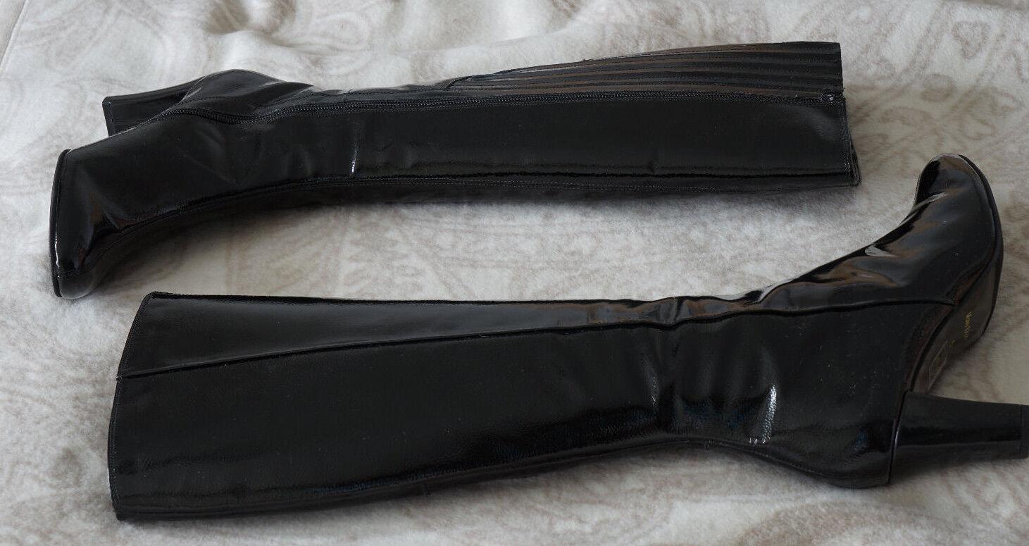 Van Dal Lackstiefel 38 schwarz Lack Stiefel Boots Boots Boots Cromwell Boss Buffalo 5631db