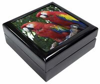 Macaw Parrots In Palm Tree Keepsake/jewellery Box Christmas Gift, Ab-pa12jb