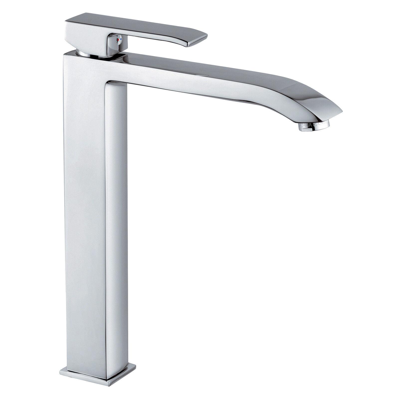 Miscelatore lavabo prolungato senza scarico Paffoni Level altezza 312mm LES081CR