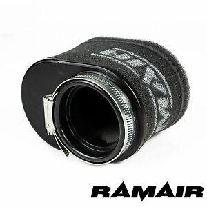 RAMAIR-High-Flow-Motorcycle-Race-Foam-Pod-Air-Filter-55mm-Oval-Neck