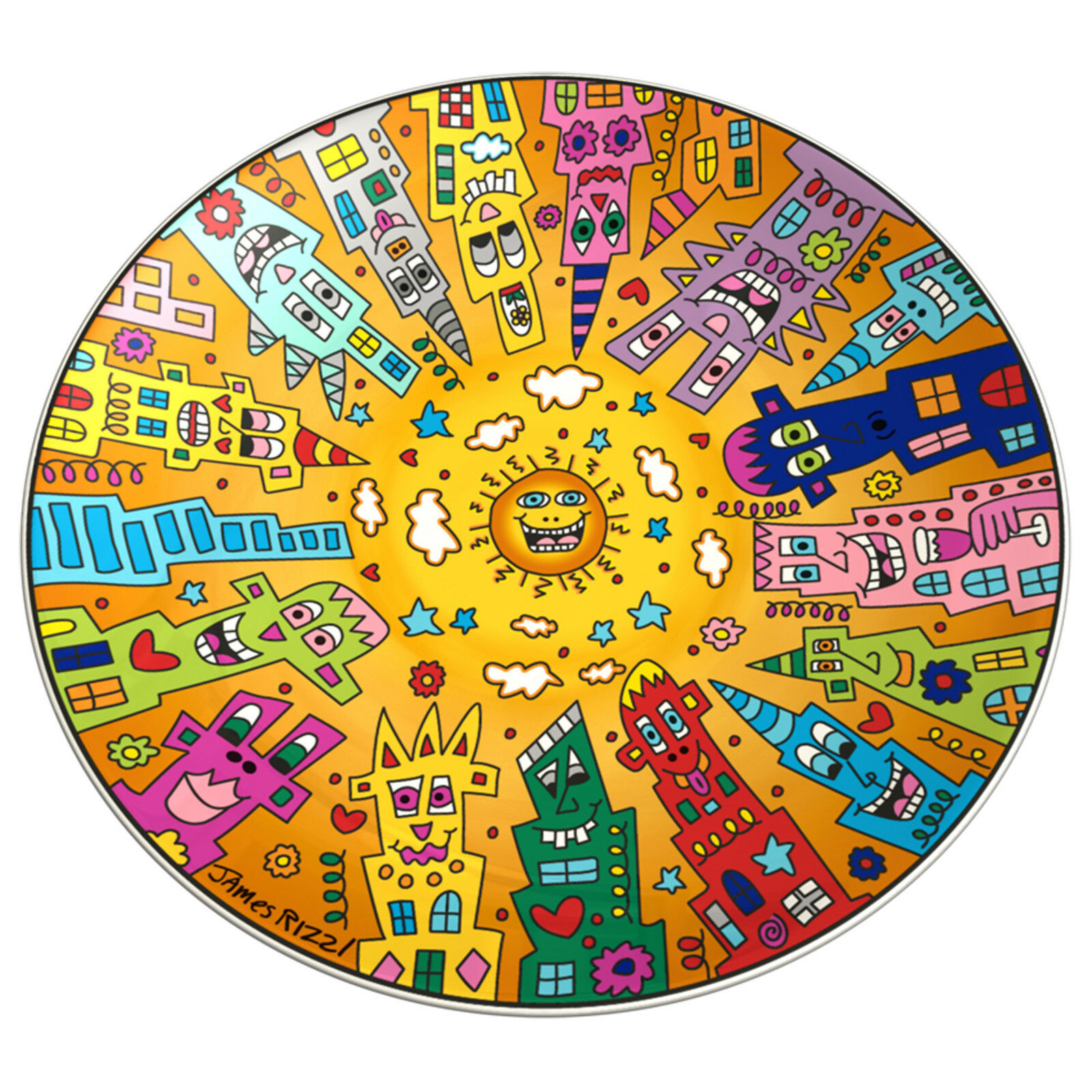Goebel City Sunset Schale ANGEBOT James Rizzi NEUHEIT 2016 Pop Art Kunst NEU