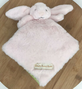 Little Jellycat Sleepy Bunny Book Pink Soft Plush Baby Rabbit