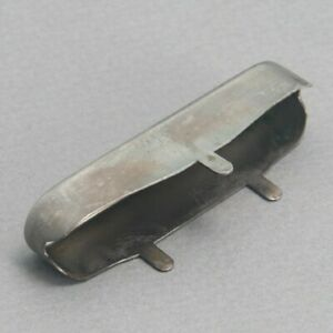 NEW Q-Parts Aged Collection Vintage Tele Neck Pickup Cover - AGED NICKEL SILVER