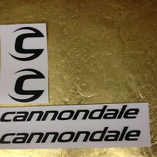 Cannondale Aufkleber Sticker Schwarz 2 x C-Logo & 2 x Cannondale Schriftzug