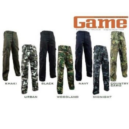 GAME CARGO TROUSERS SHORT work leisure camping angling outdoor activities