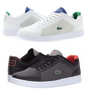 99ccf594e Lacoste Mens Endliner Lace Up Active Black or White Lo Top Trainers ...