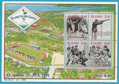 2019 Latest Design Finnland Aland Aus 1991 ** Postfrisch Block 1 Minr.47-50 - Sportspiele!