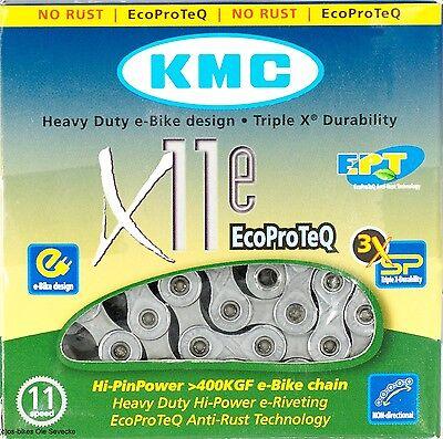 KMC X11e EPT, Kette für E-Bikes mit Mittelmotor & 11-fach Schaltung, 118-Glieder