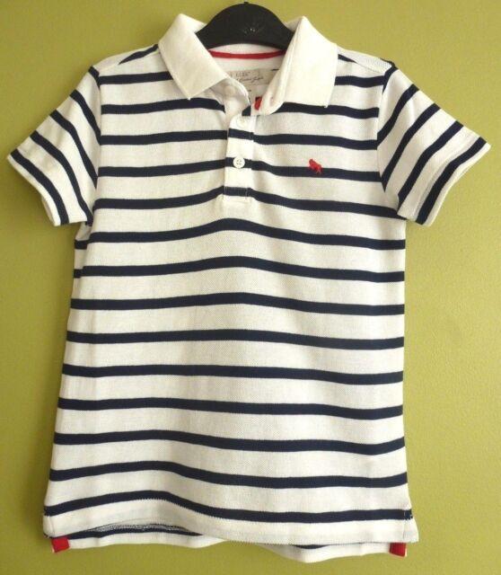 4b9a94dc3 H&M Boys Kids Childrens Striped Polo Shirt 4-6 Years BNWT Dark Blue Uk  Freepost