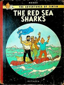 Adventures-of-Tintin-by-Herge-The-Red-Sea-Sharks-HC-Methuen-1965-Comic