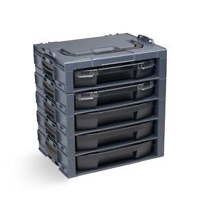 Bosch-Sortimo-i-boxx-rack-5fach-werkzeugkoffer-mit-iboxx-72-Schublade-anthrazit