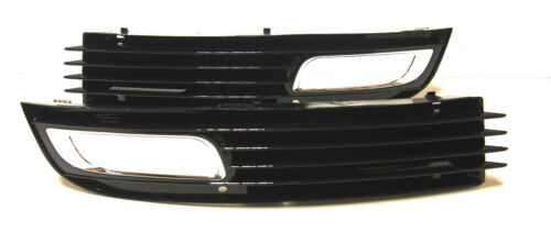 AUDI A8 2009 Left+Right front bumper lower grilles with fog lights hole 1 set