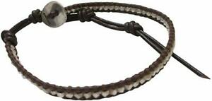 Chan-Luu-Single-Brown-Leather-with-Silver-Nuggets-Wrap-Bracelet