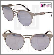bea088ed36f GUCCI GG0075SK Ruthenium Silver Metal Mirrored Sunglasses 0075 Women  Original
