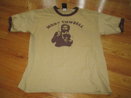 "WILL FERRELL ""MORE COWBELL"" (LG) T-Shirt BROWN"